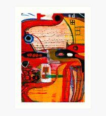 Anthropomorphism 08 Red series. Art Print