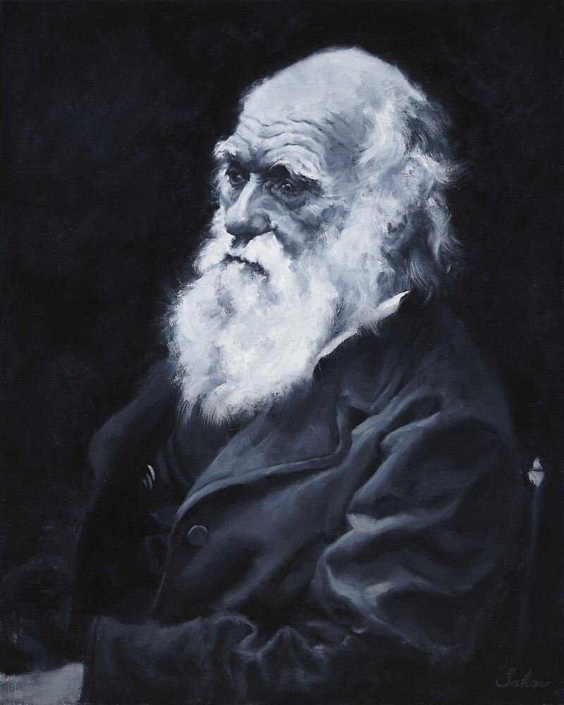 Darwin Oil Painting by pavelsokov