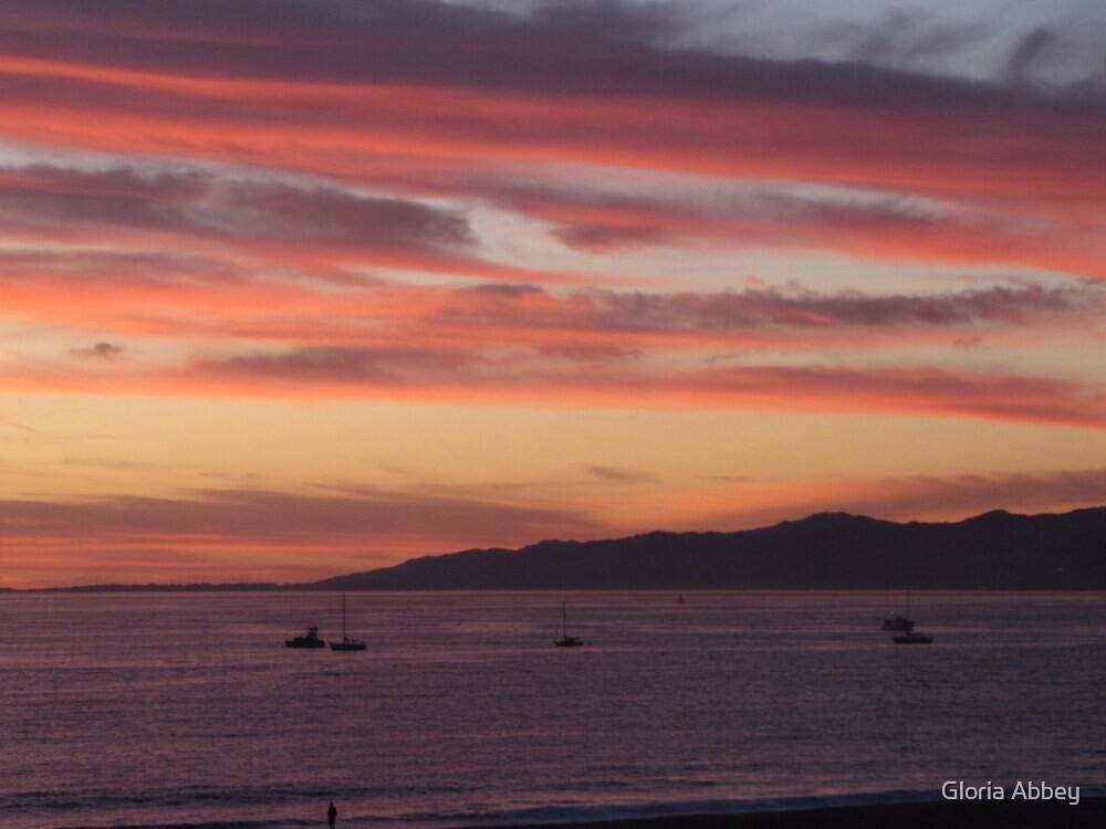 Sunset over Marina del Rey, CA by Gloria Abbey