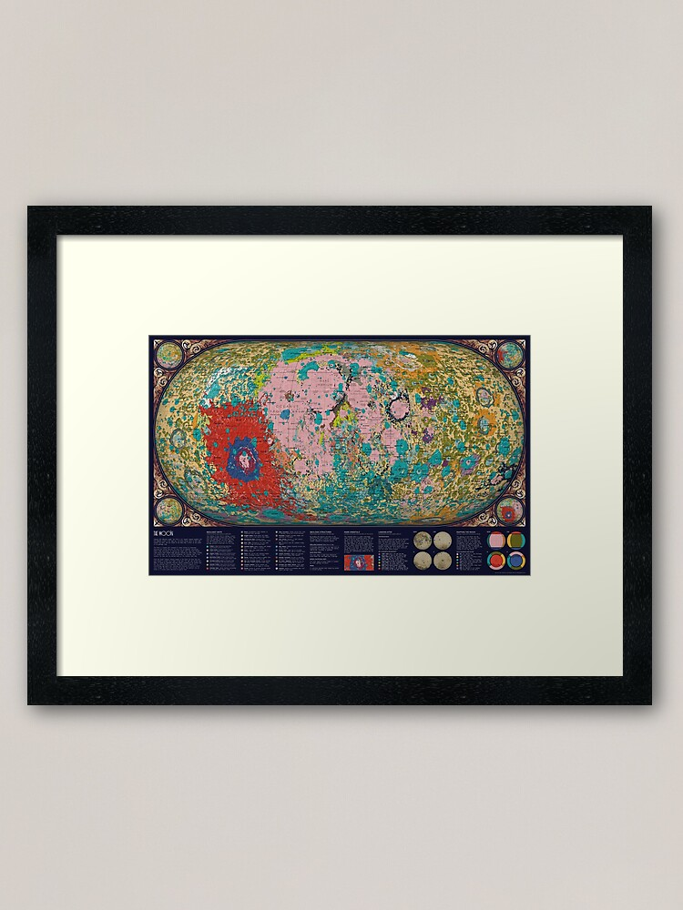 Alternate view of The Geology of the Moon Framed Art Print