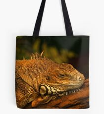 Green Iguana in deep thoughts Tote Bag