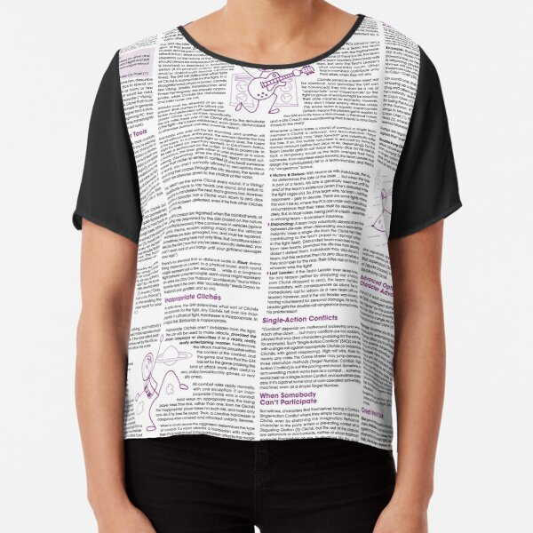 Risus: The Anything RPG (On Stuff) Chiffon Top