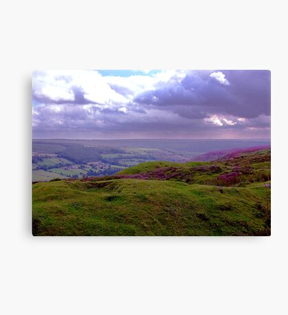 The View from Bank Top - Rosedale Canvas Print