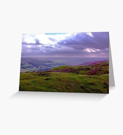 The View from Bank Top - Rosedale Greeting Card
