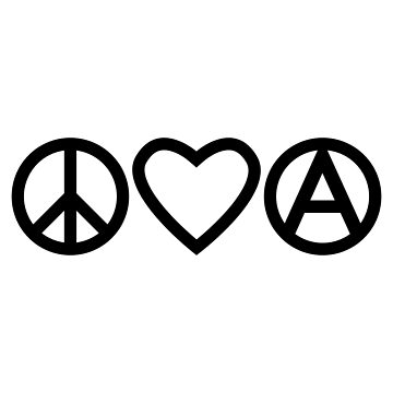 Peace Love Anarchy Classic T Shirt By Homegrownrebel Redbubble