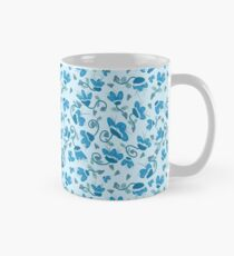 Floral Whimsy in Blue Classic Mug