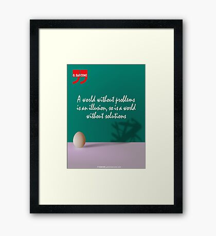A World Without... (Quotation) Framed Print