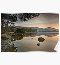 Dawn sunlight on Blencathra summit Poster
