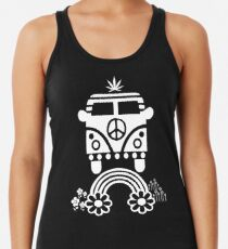 Hippie - Peace - Hanf - Generation Racerback Tank Top