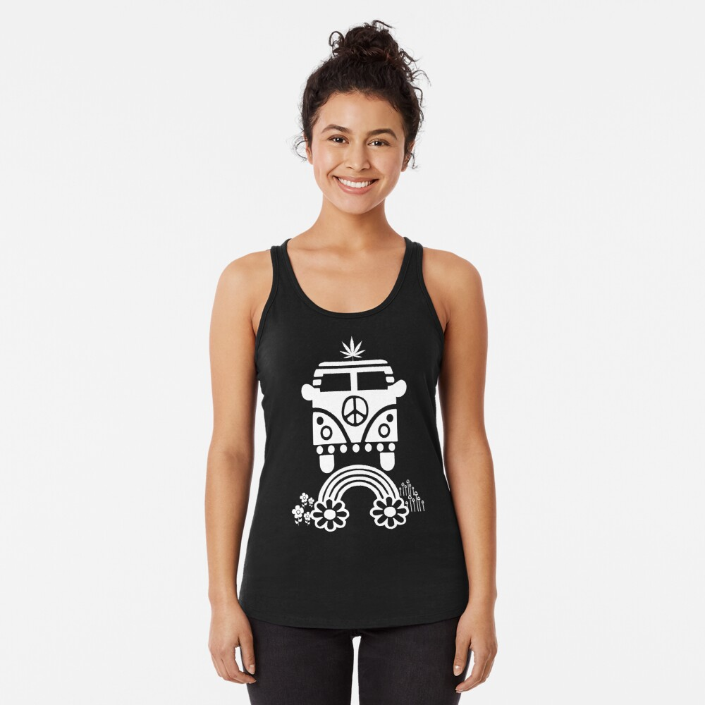 Hippie - Peace - Hanf - Generation Racerback Tank Top