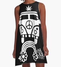 Hippie - Peace - Hanf - Generation A-Linien Kleid