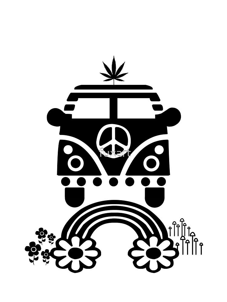 Hippie - Peace - Hanf - Generation - II von fuxart