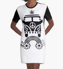 Hippie - Peace - Hanf - Generation - II T-Shirt Kleid