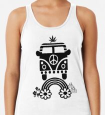 Hippie - Peace - Hanf - Generation - II Racerback Tank Top