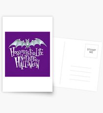 Horror is For Life, Not Just For Halloween - Light Version (Purple Background) Postcards