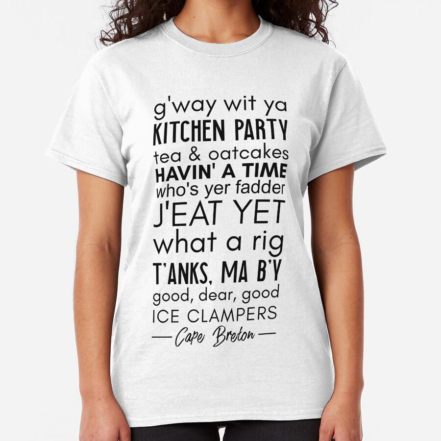 KAP BRETON SPRECHEN (VORNE VON T-STÜCK) Classic T-Shirt