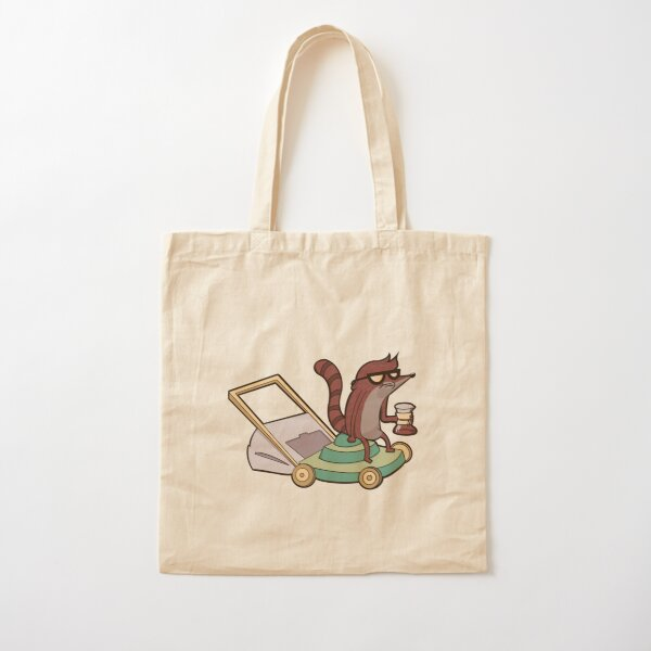 Hipster Coffee & Rigby Cotton Tote Bag