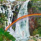 Waterfall Rainbow Shower by ienemien