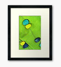 Blue & Green Framed Print