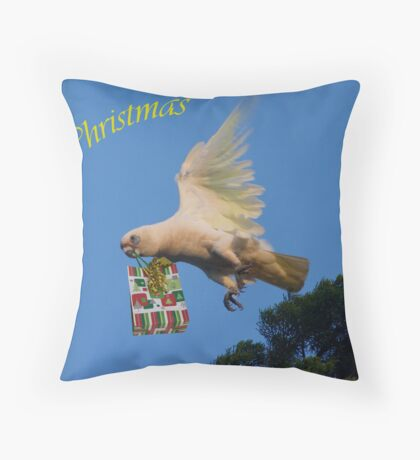 Art--card. Christmas Greetings Throw Pillow