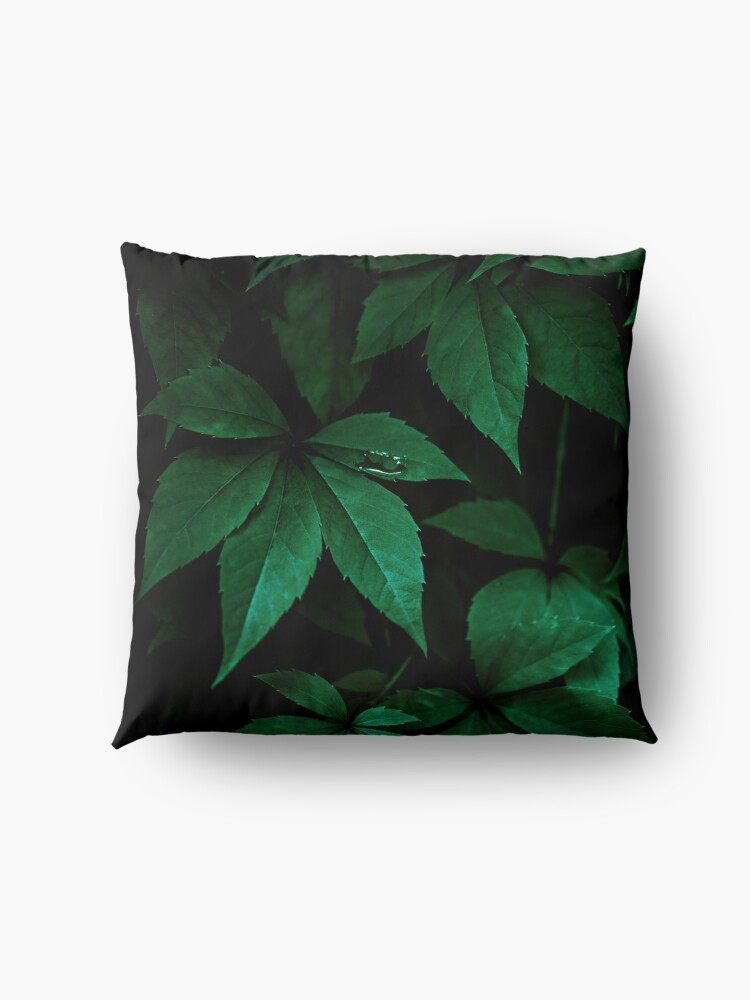 Alternate view of Dark Leaves 7 Floor Pillow
