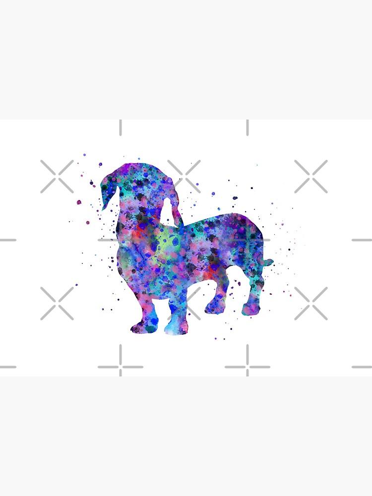 Dachshund, Dachshund dog, watercolor Dachshund by Rosaliartbook