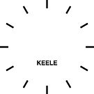 Keele Time Zone Newsroom Wanduhr von bluehugo