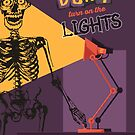 Funny Halloween skeleton don't turn on the lights by BigMRanch
