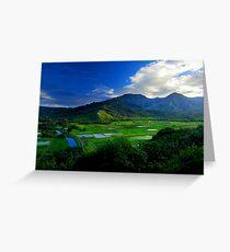 Hanalei River Valley, Kauai Greeting Card
