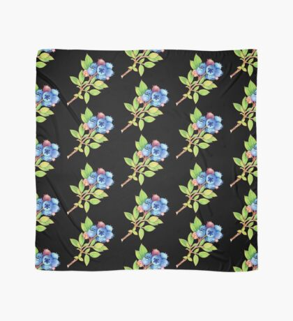 Wild Maine Blueberries Allover Print Scarf