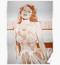 Monochromatic Starlet - Rita Hayworth Poster