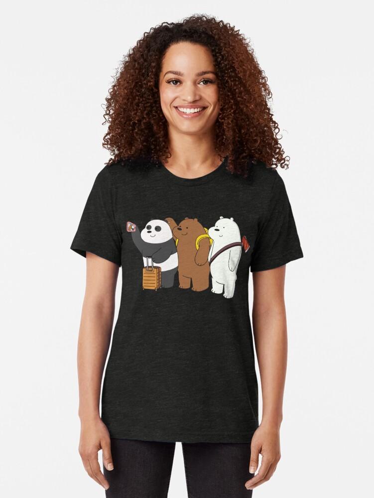 Alternate view of We Bare Bears Tri-blend T-Shirt