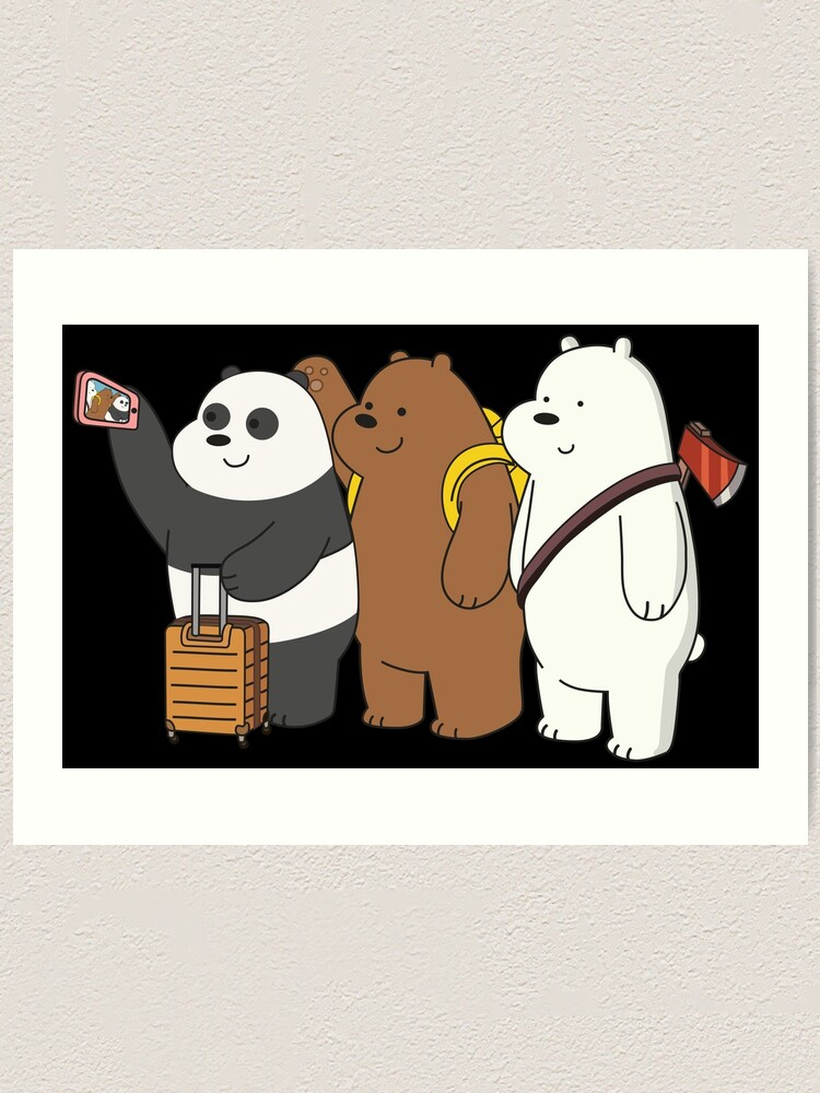 Alternate view of We Bare Bears Art Print