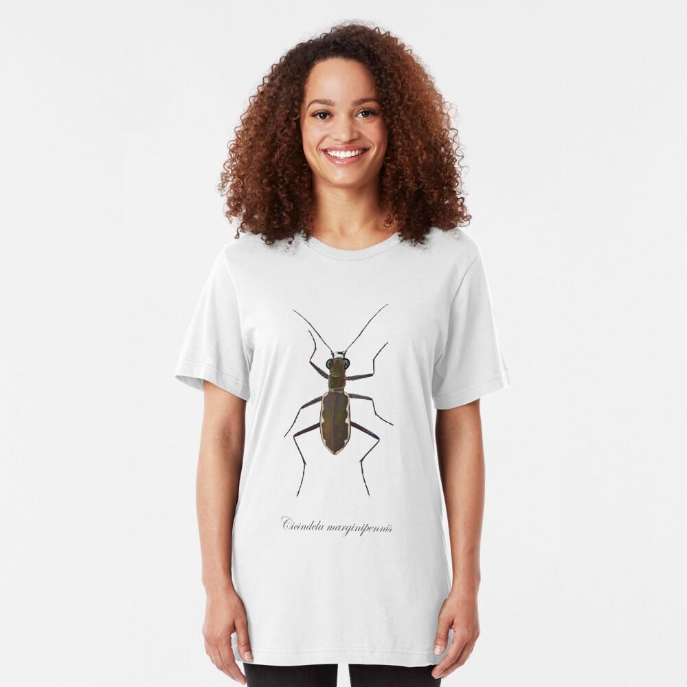 Cobblestone tiger beetle, Cicindela marginipennis Slim Fit T-Shirt