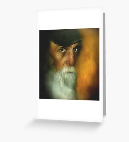 Watching Every Move ~ Painter Portrait Greeting Card