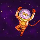 Funky gnome in deep space by Rentea Claudiu