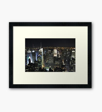 NYC shot in RAW from Empire States Building Framed Print
