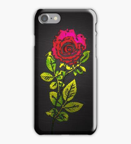 Embossed Rose iPhone Case/Skin