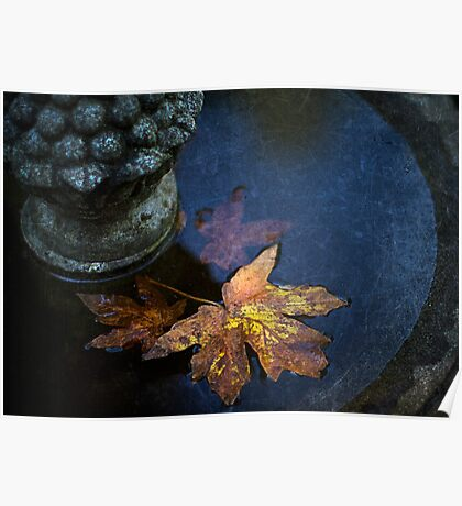 Fall At The Fountain Poster