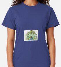 Birdhouse Watercolor digital Original art Classic T-Shirt