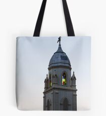 Steeple and Stained Glass Tote Bag