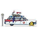 Ghostbusters Krankenwagen Ecto-1 von Creative Spectator