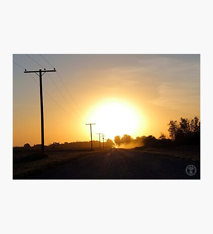 Grid Road Sunset Photographic Print