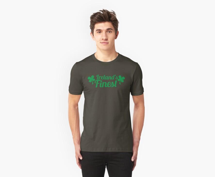 Ireland's finest with shamrocks Irish shirt by jazzydevil