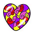 Swirly heart by Melanie Jeyakkumar