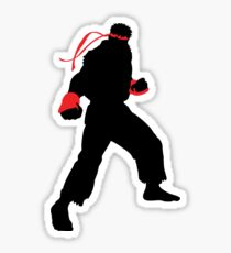 Ryu Silhouette Sticker