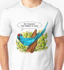 Talking blue ringneck parrot Unisex T-Shirt