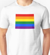 LGBT Flag Map of Wyoming  Unisex T-Shirt