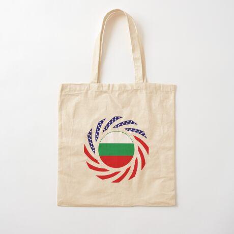 Bulgarian American Multinational Patriot Flag Series Cotton Tote Bag