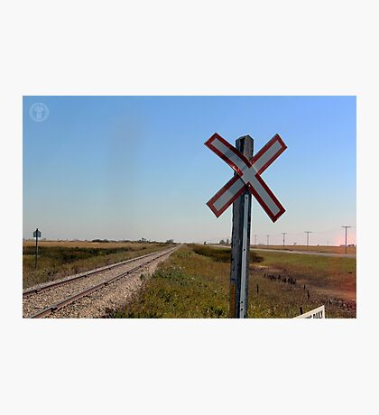 Railway Crossing Photographic Print